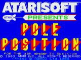 Pole Position ZX Spectrum Title screen
