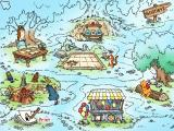 Disney's Winnie the Pooh: Kindergarten Windows The map of the hundred acre wood