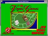 More Vegas Games Entertainment Pack for Windows Windows 3.x Title screen (Baccarat)