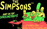The Simpsons: Bart vs. the Space Mutants DOS Title screen (CGA)