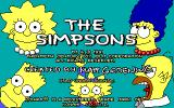 The Simpsons DOS Title screen (EGA/Tandy)