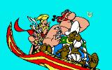 Asterix and the Magic Carpet Amiga Catching a ride on a magic carpet.