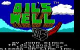 Oil's Well PC Booter Title screen (Tandy/PCjr)