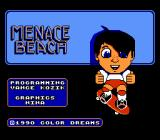Menace Beach NES Title Screen