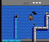 Menace Beach NES Holes open up in the walls and a hand throws bombs from ketchup bottles from them.