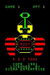R2D Tank Arcadia 2001 Title screen
