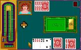Hoyle Classic Card Games DOS Cribbage. (16 color - EGA MODE)