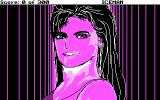 Code-Name: Iceman DOS Close up of Stacy. (CGA 4 Color Mode)