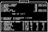 Wizardry: Legacy of Llylgamyn - The Third Scenario Apple II Shop