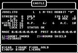 Wizardry: Legacy of Llylgamyn - The Third Scenario Apple II Character stats