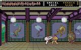 The Karate Kid: Part II - The Computer Game Amiga Attacking with a high kick.
