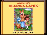 Arthur's Reading Games Windows The second title screen