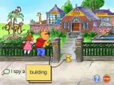 Arthur's Reading Games Windows Playing I Spy: This looks pretty simple and boring, the word is 'building' so all the player has to do is click on the building. However there's so much more going on it  could actually be fun
