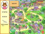 Arthur's Reading Games Windows The Race Game: The player is shown a picture and must identify the correct word from the list provided. Once they do so the word is swapped for the picture and vice versa, then the character starts mo
