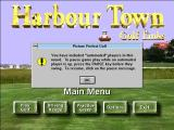 Picture Perfect Golf Windows 3.x Prior to the start of a game this warning is displayed if an automated player is in use