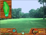 Picture Perfect Golf Windows 3.x Playing the game, here we are 161 yards down the fairway playing towards the green. <br>The overhead view can be toggled on/off via the 'Top View' button