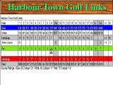 Picture Perfect Golf Windows 3.x The in-game scoresheet