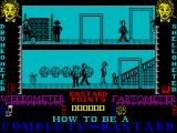 How to be a Complete Bastard ZX Spectrum The game begins at a house where there are lots of people