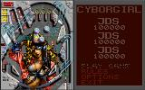 Cyborgirl DOS Table's high score and options