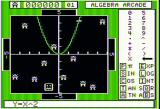 Algebra Arcade Apple II Entering an equation that almost hits an alien