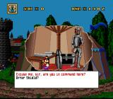 Mario's Time Machine SNES Talking to a soldier