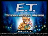 E.T. The Extra-Terrestrial: Interplanetary Mission Windows Start screen