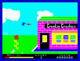 Percy the Potty Pigeon ZX Spectrum Don't confound the carnivore flowers and their baits with worms.