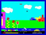 Percy the Potty Pigeon ZX Spectrum Beware of the traffic.