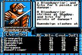 The Bard's Tale III: Thief of Fate Apple II The first fight against a Bloodwarrior