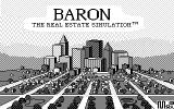 Baron: The Real Estate Simulation DOS Title screen