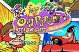 The Fairly OddParents!: Enter the Cleft Game Boy Advance Title screen