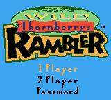 The Wild Thornberrys: Rambler Game Boy Color Title screen
