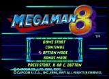 Mega Man 8: Anniversary Edition SEGA Saturn Main menu.