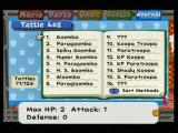 Paper Mario: The Thousand-Year Door GameCube The Tattle Log displays information gathered by Goombella during battles.