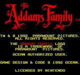 The Addams Family Arcade Title Screen