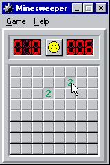 Microsoft Windows 95 (included games) Windows Beginner (Minesweeper)