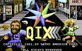 QIX Commodore 128 Title screen
