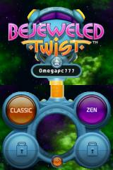 Bejeweled: Twist Nintendo DS Game mode selection