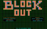 Blockout DOS Title screen (Lo-res EGA/Tandy)