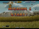Metal Slug 6 Arcade After parachuting in, Tarma begins his one-man offensive...