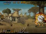 Metal Slug 6 Arcade Here we see an example of a Metal Slug explosion, some of the prettiest in the industry.