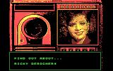 Mean Streets DOS Video chatting with your secretary. (CGA)