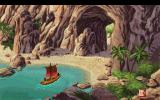 King's Quest V: Absence Makes the Heart Go Yonder! DOS Sailing to an island. (CDROM version) (VGA)