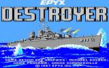 Destroyer Apple IIgs Title screen