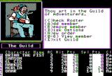 The Bard's Tale II: The Destiny Knight Apple II Game starts in the adventurers guild