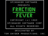 Fraction Fever ColecoVision Title screen