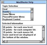 MacBlaster Windows 3.x The game's help file is a bit unusual in it's format. It opens in a separate window
