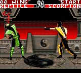 Mortal Kombat II Game Gear Scorpion's devastating spear attack.