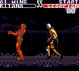 Mortal Kombat II Game Gear Scorpion's fatality
