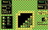 Puzznic DOS Level 1 shown with one of the alternative CGA palettes you can switch to
